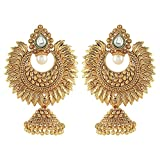 Crunchy Fashion Bollywood Style Party Wear Traditional Indian Jewelry Jhumka Earrings for Women