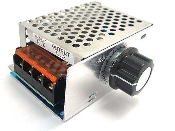 ARCELI Regulador regulador de Velocidad electrónico Regulador de Alta Potencia SCR AC 220V 4000W: Amazon.es: Electrónica