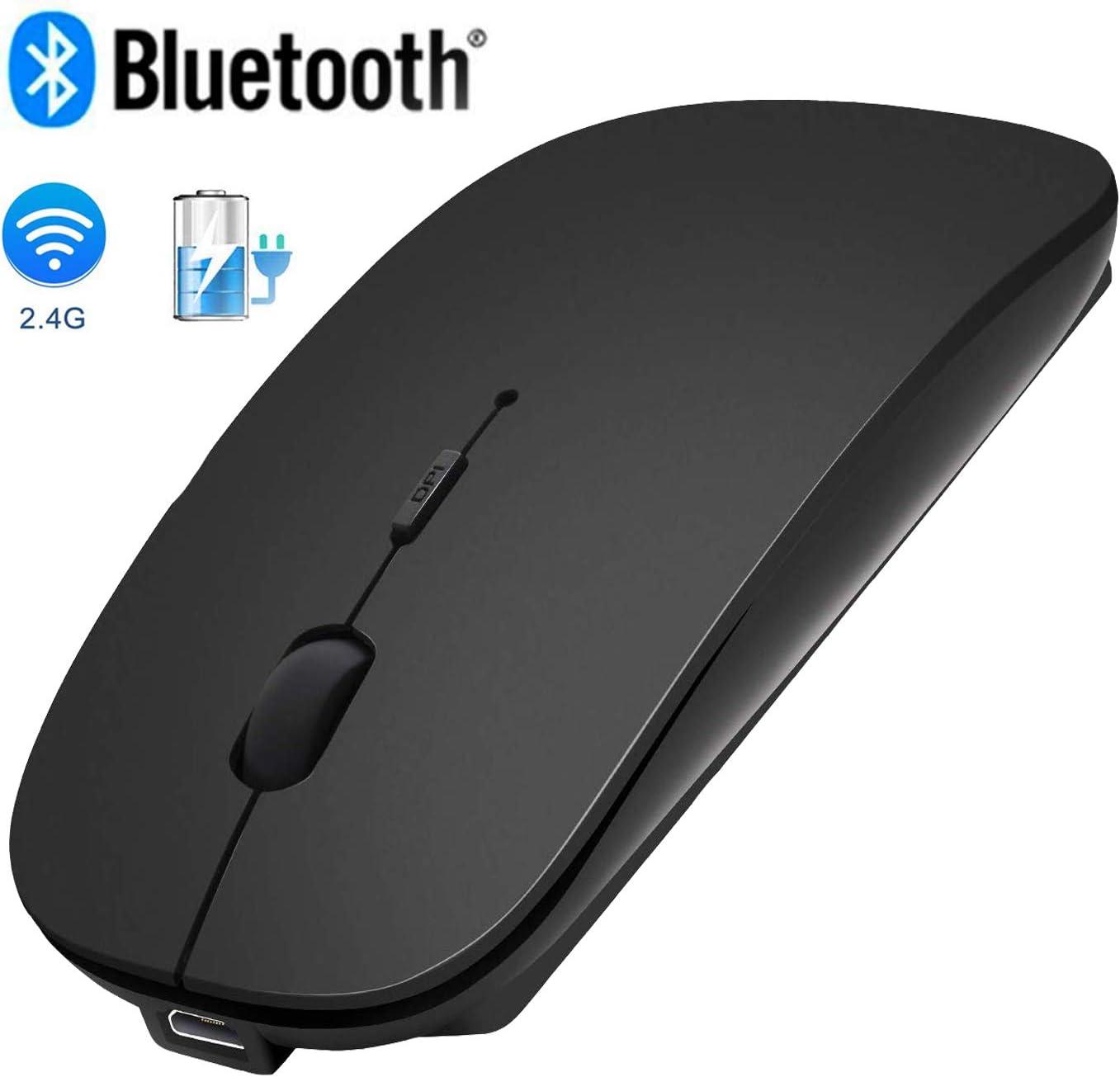 Ratón inalámbrico Bluetooth de 2,4 GHz 3 DPI ajustables-1MVS