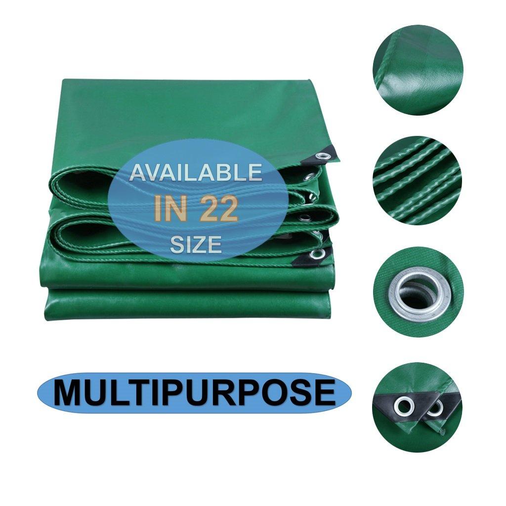 スーパーヘビーデューティー30ミリリットルポリタフカバー - 厚手防水性、耐UV性、腐敗性、裂け目および裂け目グロメットと強化エッジ付きグリーンターポリン (サイズ さいず : 2 x 4m) B07FVV6WPV 2 x 4m  2 x 4m