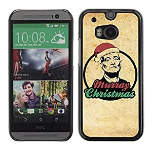 A-type Arte & diseño plástico duro Fundas Cover Cubre Hard Case Cover para All New HTC One (M8) ( Feliz Navidad Bill Murray )