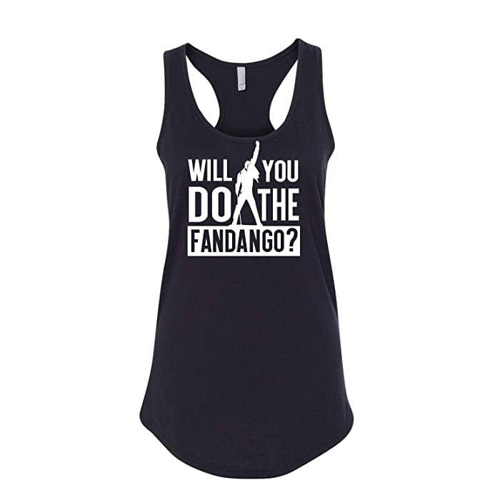 01e2fa24 Will You Do The Fandango? Printed Graphic Sleeveless Racerback Tank Top  Black