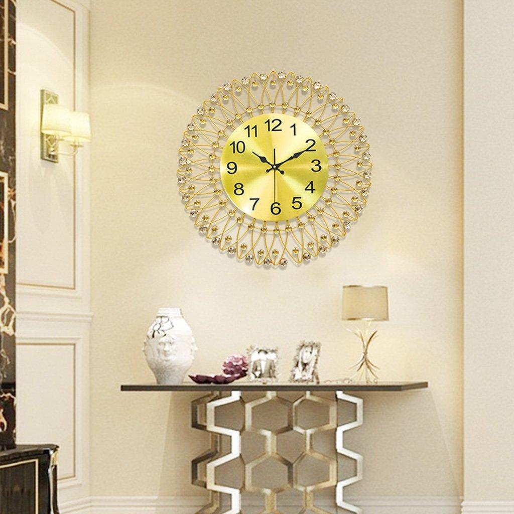 Amazon.com: GZD Simple Iron Wall Clock, Nordic Flower Modeling ...
