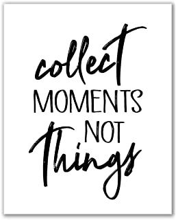 Motivational collect moments not things Print Quote Vintage Quote Inspirational