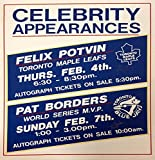 Pat Borders and Felix Potvin Autographed Vintage Sign - Toronto Blue Jays - NHL Autographed Miscellaneous Items