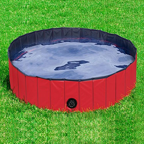 Yaheetech 32inch.D x 8inch.H Pet Swimming Pool Foldable Bathtub Dog Cats Washer by Yaheetech (Image #1)