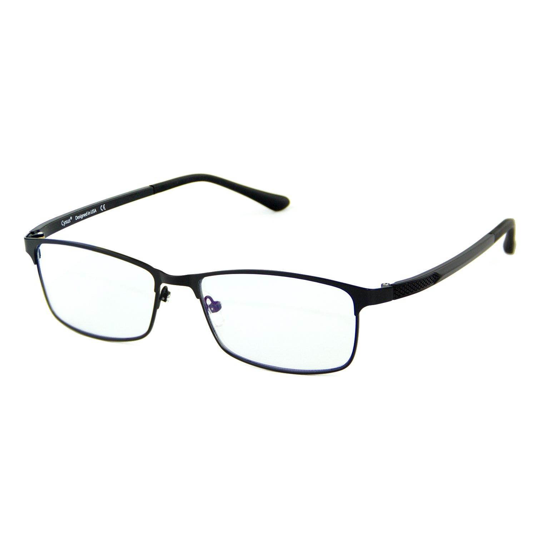 Cyxus Blue Light Blocking Computer Glasses [Better Sleep] Anti Digital Eye Strain Headache Video Eyewear (Black Frame)