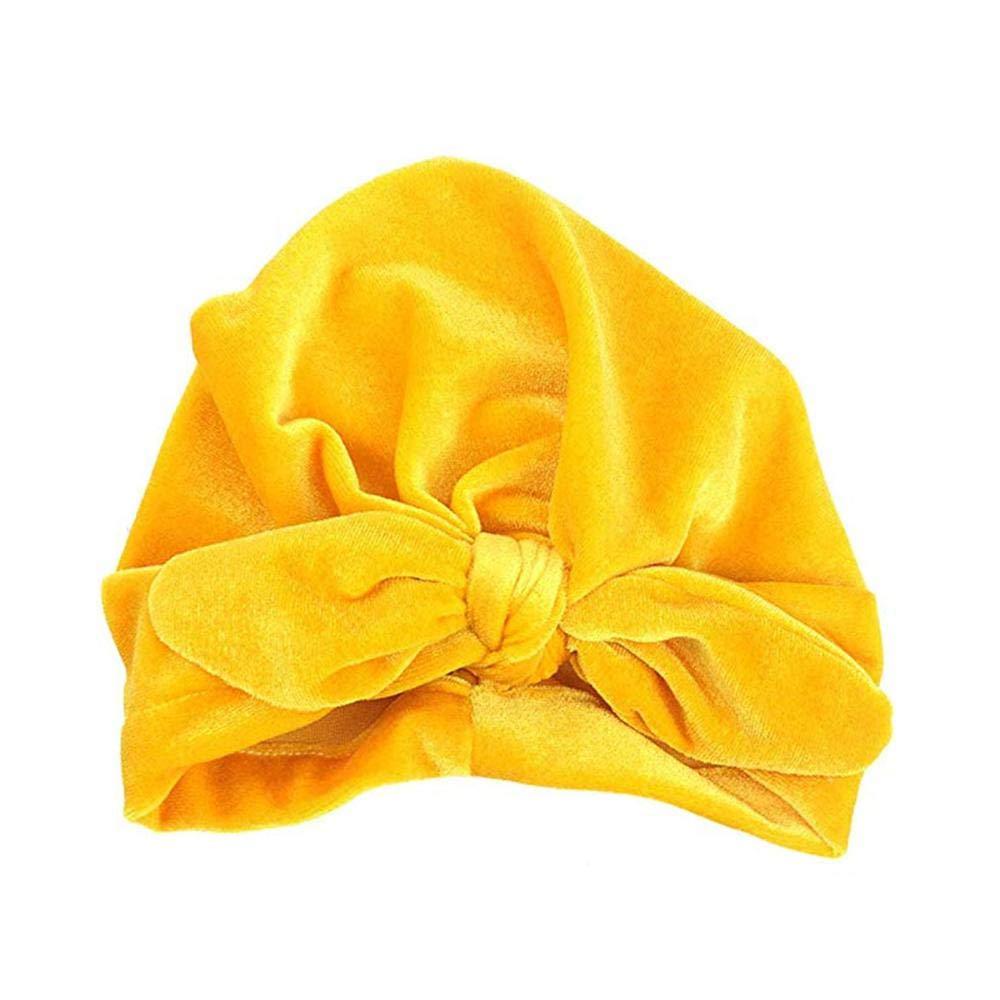 FOONEE - Diadema para bebé con Nudo de Turbante (Color Beige) Amarillo Amarillo