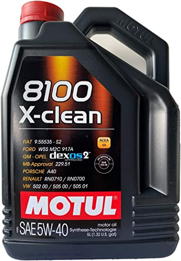 Motul 8100 X Clean 5w40 5 Liter Auto