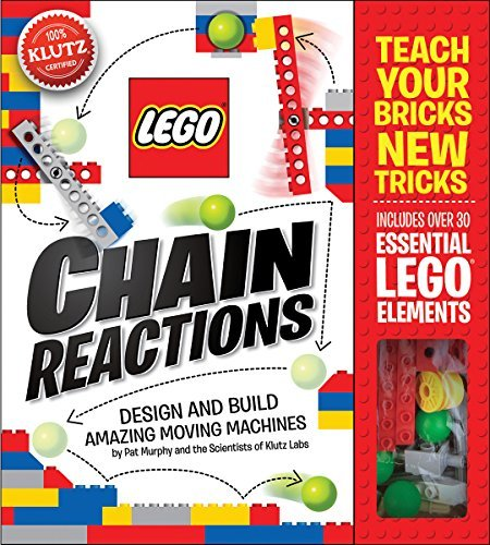 Book cover from By Pat Murphy and the Scientists of Klutz Labs LEGO Chain Reactions: Design and build amazing moving machines (Klutz S) (Spiral-bound) January 13, 2015by Pat Murphy and the Scientists of Klutz Labs