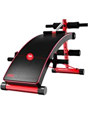 Ab/Hyper Bench Decline Incline Decline Sit-up Bench Workout, Black Red Olympic Weight Bench Hyper Back Extension Gym Bench, Slant Crunch Board (Size : S32cm)