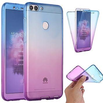 YSIMEE Carcasa Huawei P Smart/Enjoy 7S,Xmas Decoración ...
