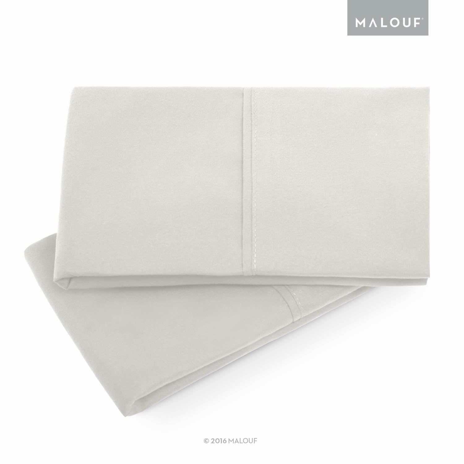 MALOUF Double Brushed Microfiber Super Soft Luxury Pillowcase Set - Wrinkle Resistant - Standard Pillowcases - Set of 2 - Driftwood