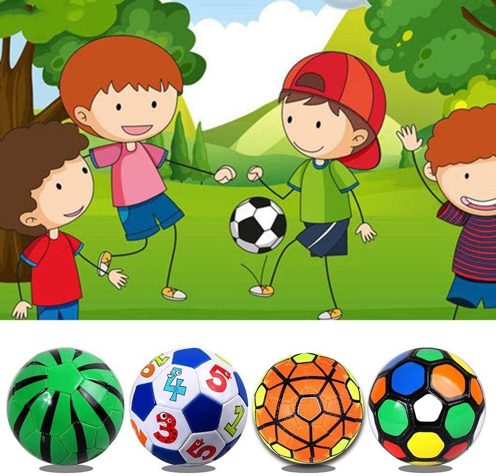 Usage int/érieur et ext/érieur smileyshy Football pour Enfants Ballon dentra/înement en Cuir Souple Gonflable pour Football pour Enfants et Adultes