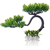 HITOP Pets Plastic Plants for Fish Tank Decorations Unique Artificial Aquarium Decor Pine Tree