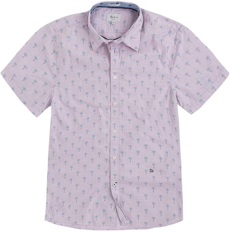 Pepe Jeans Camisa Trace Rosa Hombre: Amazon.es: Ropa y accesorios