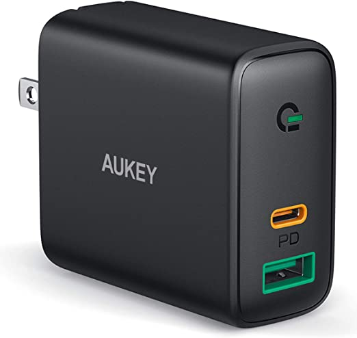 Amazon.com: AUKEYFocus USBCCharger30W and 12W 2-Port PowerDelivery3.0FastChargerwithDynamicDetect,USBCWallChargerDualPortforiPhone11ProMax, iPhone SE,Pixel4XL,MacBook Air,iPadPro
