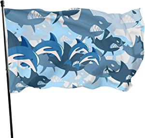 MVNB Shark Wrath Bite Teeth Fly Breeze 3x5 Foot Polyester Flag,Fade Resistant Durable Beach Flags with Header and Brass Grommet,Easy to Use