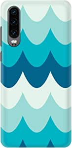 Stylizedd Huawei P30, Slim Snap Basic Case Cover Matte Finish - Wavy Waves