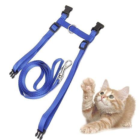 Ogquaton 1 Unidades Durable Ajustable Chaleco para Gato Arnés de Seguridad Correa de Plomo Suministros para