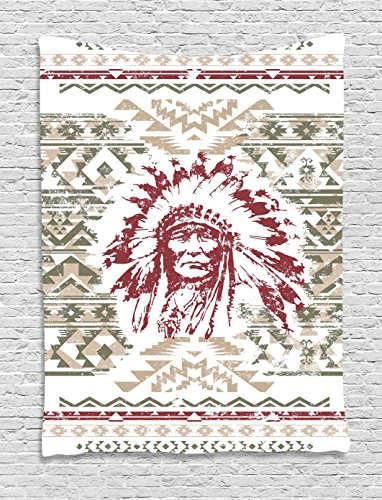 Ambesonne Native American Tapestry, Retrp Eagle Heart for sale  Delivered anywhere in USA