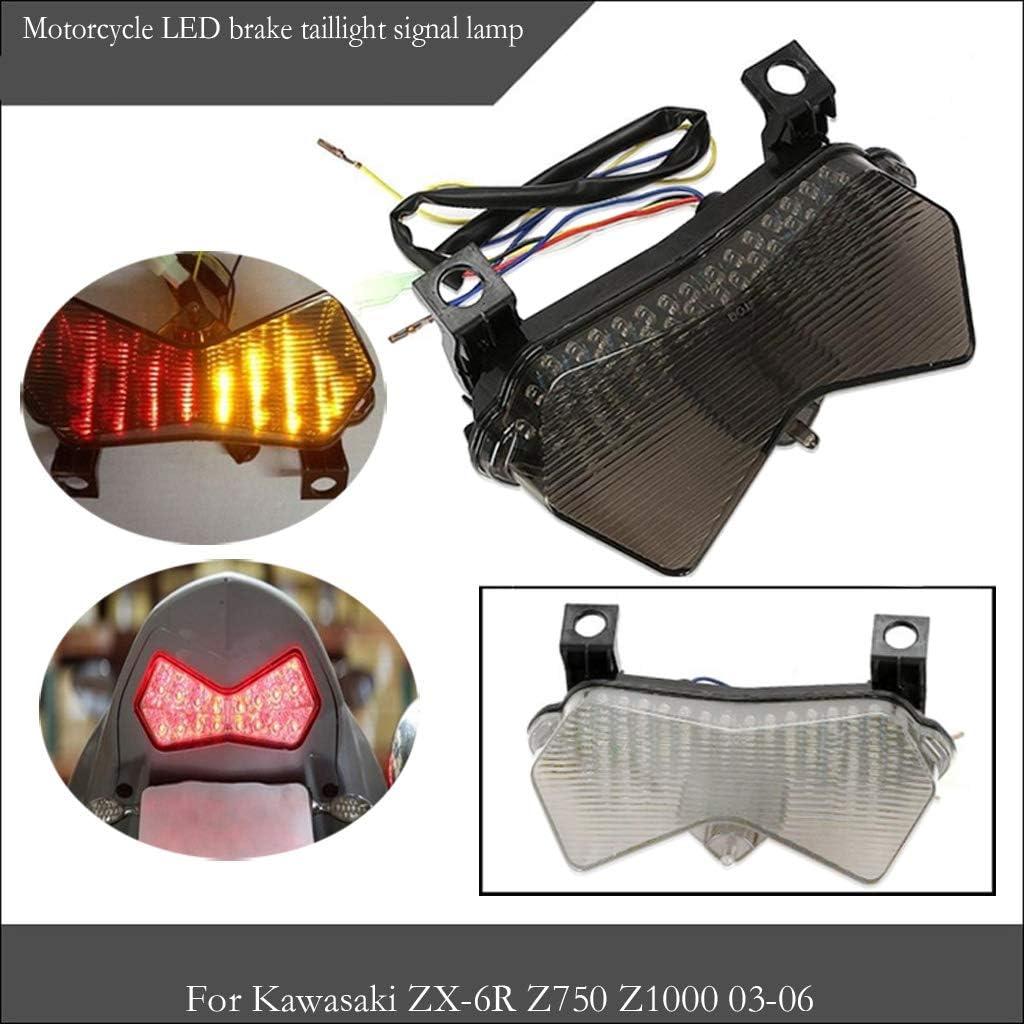 Fum/ée B Baosity Signal Lumineux Int/égr/é De Queue De Frein De Moto pour Kawasaki Z750 04-06