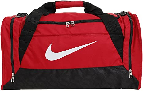 Nike Brasilia 6 Duffel Sports Bag Red Gym RedBlackWhite