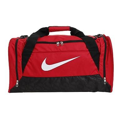 Black Red Flint Gray  Nike Brasilia 6 Medium Duffle Bag ... 7a6d979fbcaf8