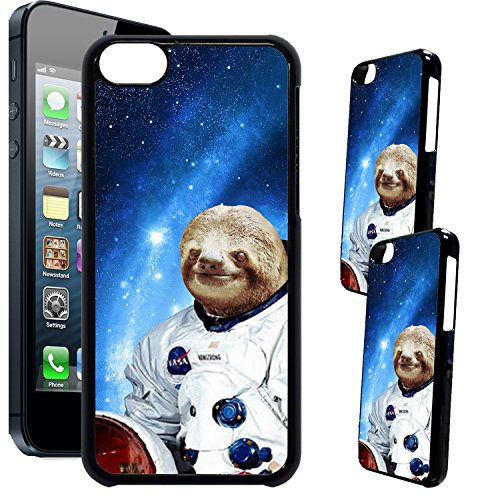 Costume Designers Quotes ([TeleSkins] - iPhone 5C Designer Plastic Case - Hipster Astronaut Sloth Ultra Durable HARD PLASTIC Protective Snap On Back Case / Cover for iPhone 5C.)