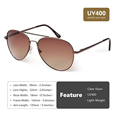 8ee70c990a XENSA® Aviator Sunglasses for Mens Womens Polarized Sun Glasses Shades with  Uv400 Universal Size Fit