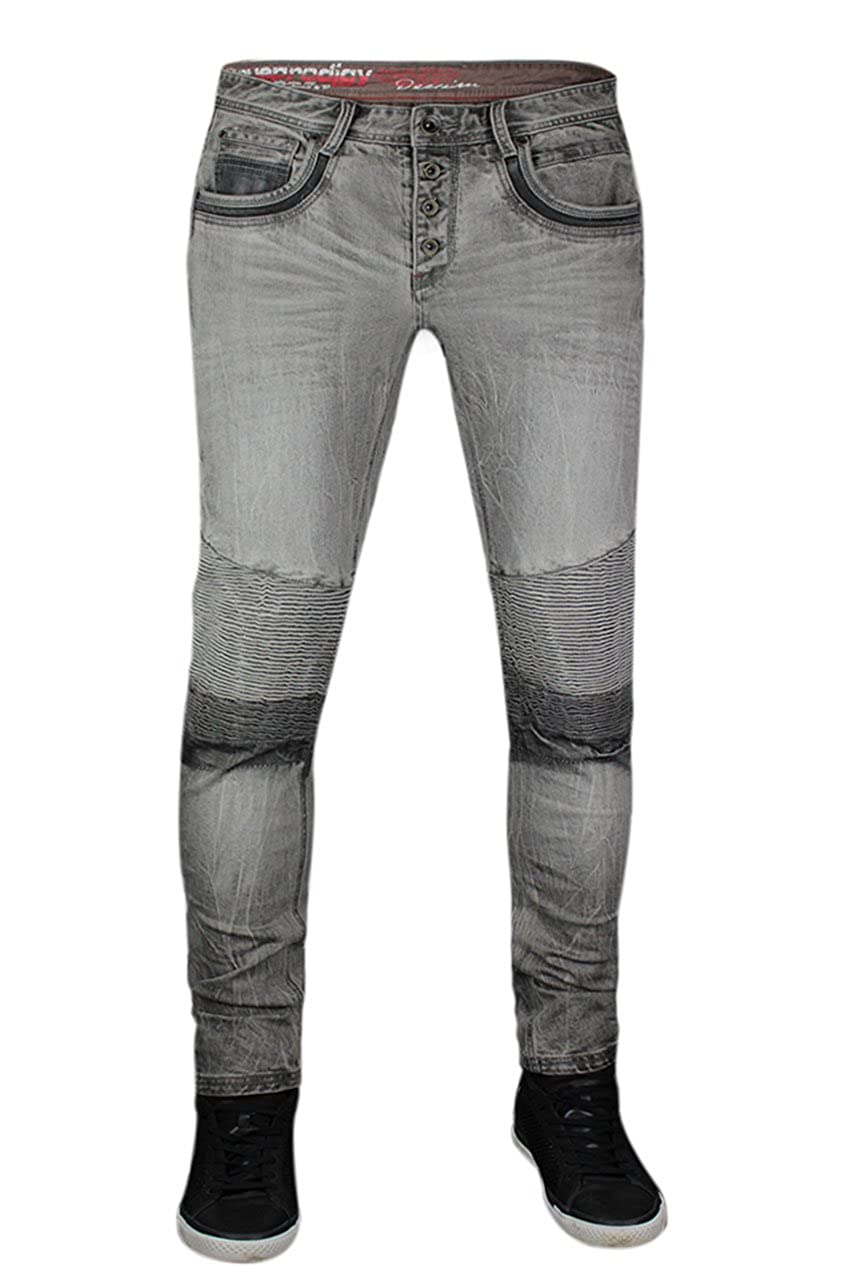 trueprodigy Casual Hombre Marca Jeans Pantalon Elastica Ropa Retro Vintage Rock Vestir Moda Deportivo Vaquero Slim fit Designer Fashion Tejanos Denim