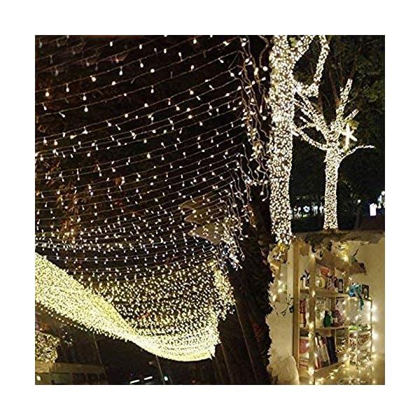 Uping Catena Luminosa Stringa di Luci 300 LED, per Festa Giardino Natale Halloween Matrimonio(Bianca Calda) 1 spesavip