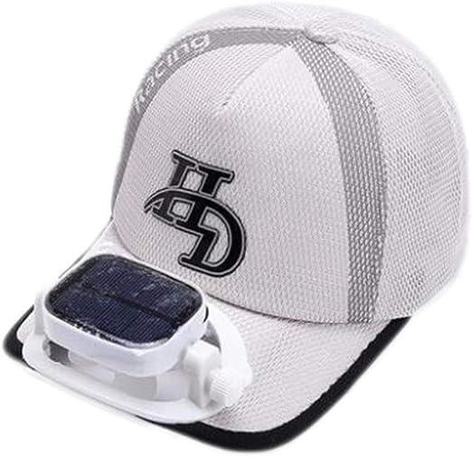 GG- fan cap con Ventilador Solar Sombrero para el Sol Verano Gorra de béisbol de Golf Hombres y Mujeres Malla Transpirable Doble Carga tamaño Ajustable al Aire Libre Pescar, 4 Colores: Amazon.es: