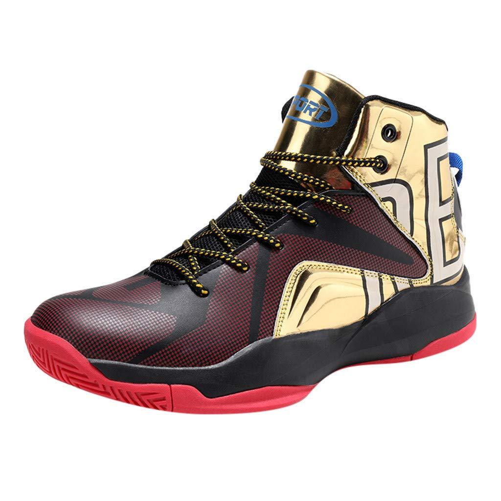 Street Sneakers Men Work Sneakers ✔ Men's Fashion High-Top Shock-Absorbing Wear-Resistant Basketball Student Sneaker