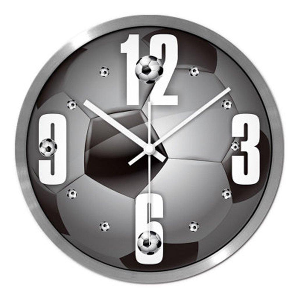 リビングルームミュートクリエイティブワールドカップウォールテーブルサッカーファンウォールクロックスポーツホールクォーツ時計バドミントンホールクロック ( 色 : シルバー しるば゜ ) B071J831JZ シルバー しるば゜ シルバー しるば゜