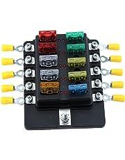 amazon com fuse boxes fuses accessories automotive price 15 69 10 way blade fuse block