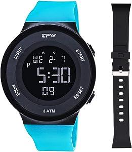 TPW Digital Sport Watch for Men Women K9001 (2019 Military Watch 3ATM Waterproof Wrist Watch LCD Screen Backlight with Stopwatch, Alarm, Time Setting