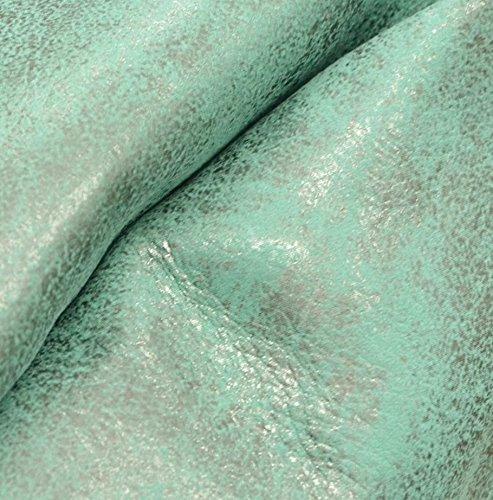 Aqua Cowhide - All Shook Up Aqua Rock-n-Roll Cowhide Leather Sheet 8