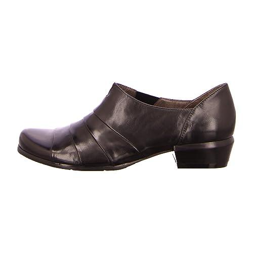 regarde le ciel MELANY-03-001 - Mocasines de Piel para mujer, color Negro, talla 40: Amazon.es: Zapatos y complementos