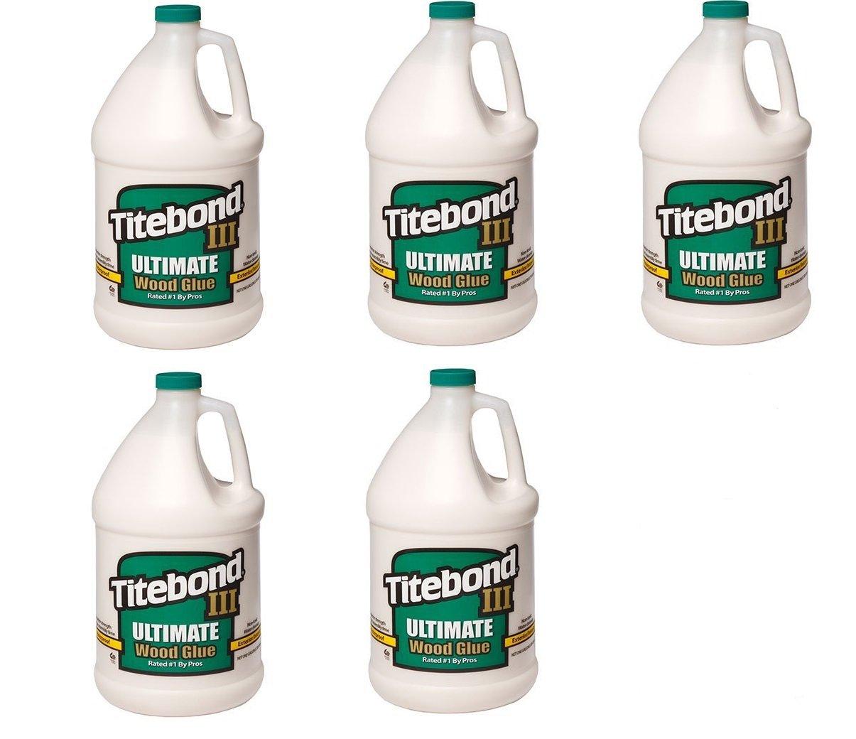 Franklin International 1416 Titebond-3 Ultimate Wood Glue, 1-Gallon (5 X 1 GALLON)