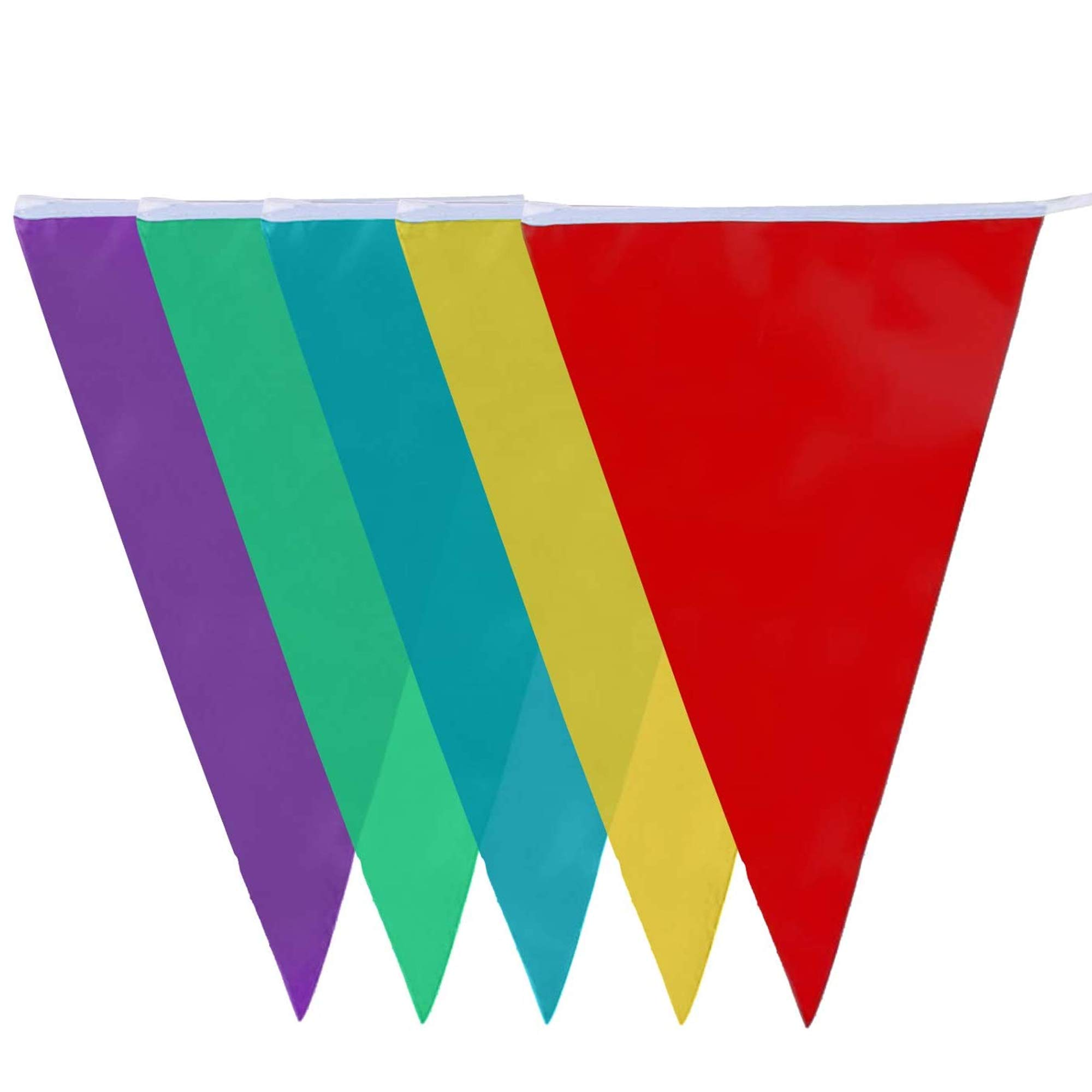 10-Metre PVC Double-Sided Bunting - 20 Flags