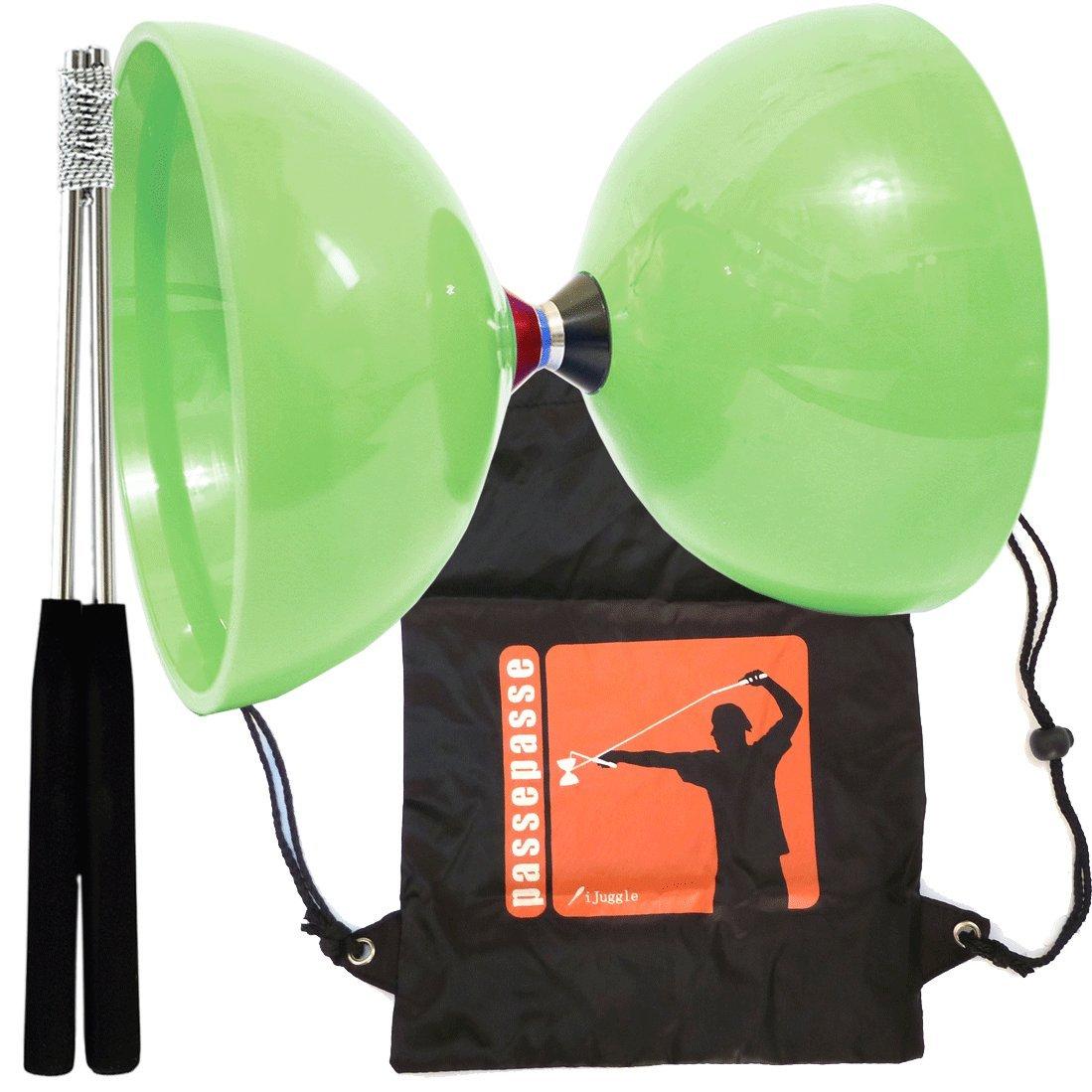 Kit grün Diabolo MHD dreifache Lagerkupplung Diabolo mit Aluminium Bedienelemente & Rucksack