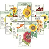 "Botanical Interests ""Sunflower Delight"" Flower Seed Collection - 10 Packets with Gift Box"