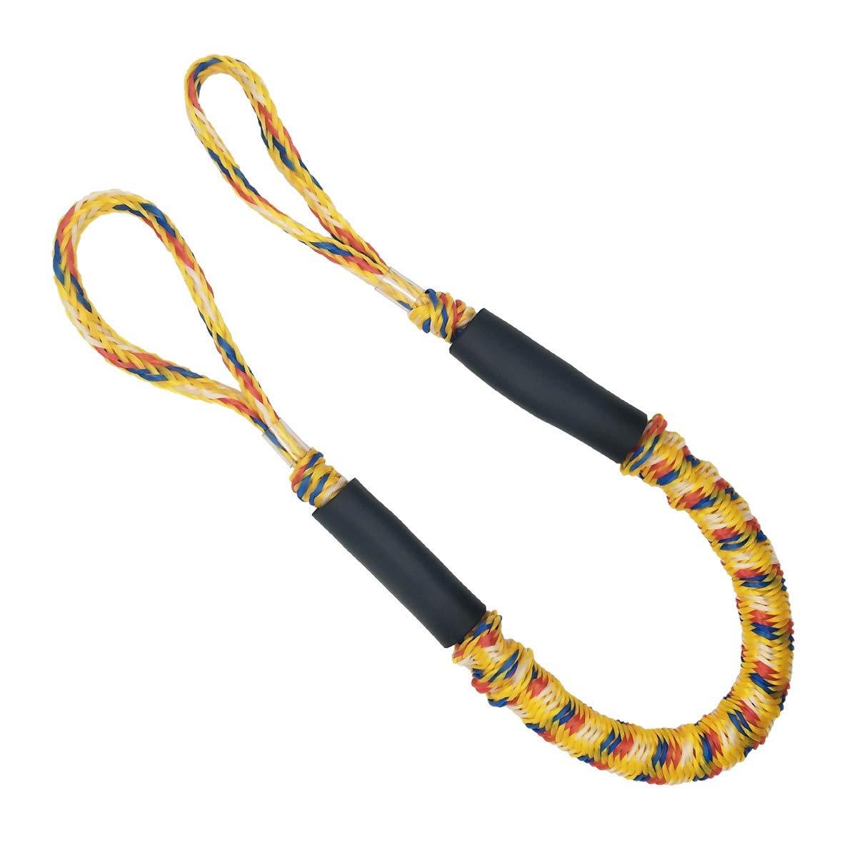 Yellow Marine Bungee Dock Line//Boat Mooring Rope Bungee Tie Stretch