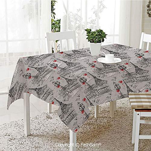 AmaUncle 3D Print Table Cloths Cover River Seine