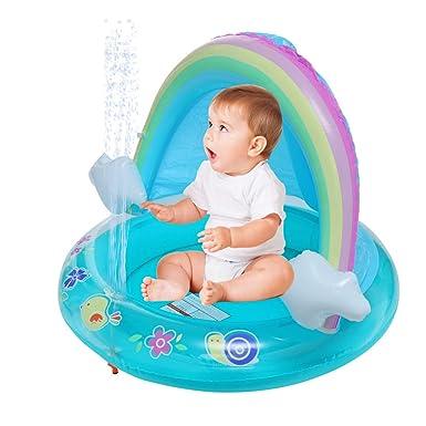 Amazon.com: Piscina para bebé, piscina con dosel, piscina de ...