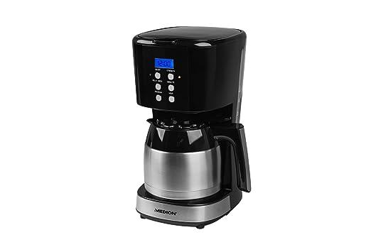 Medion MD 18088 - Cafetera con recipiente térmico, función del temporizador, parada de goteo, 900 vatios, capacidad de 1 litro, color negra: Amazon.es: ...