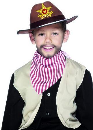 Confettery Kostum Accessoires Zubehor Kinder Sherrif Hut Mit