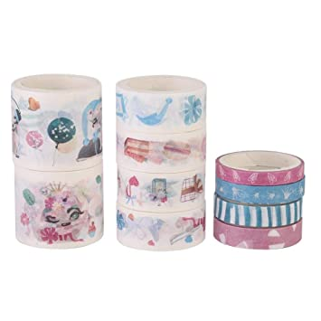 Amazon Com 10rolls Washi Tape Set Japanese Masking Tape