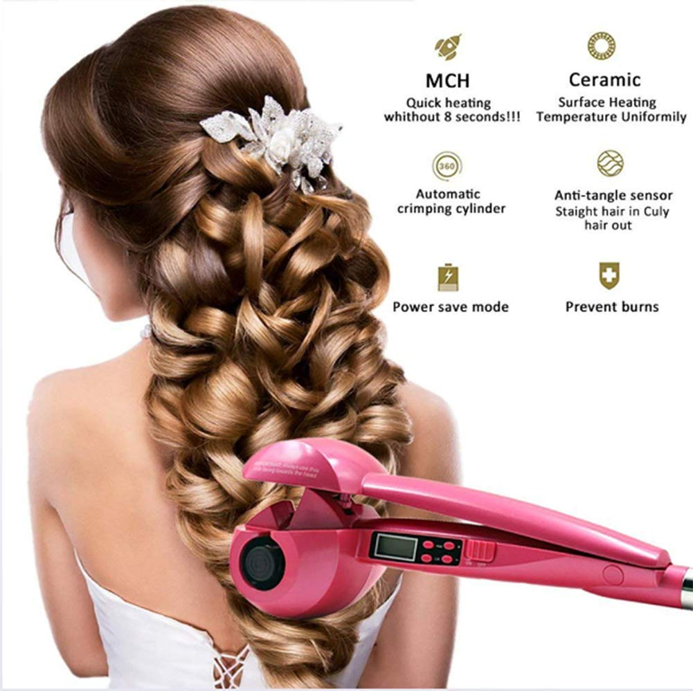 Amazon.com : MM Magic Automatic Hair Curler LCD Curling Iron Automatic Curling Artifact Nano Ceramic Curling Iron Anti-Perm : Camera & Photo